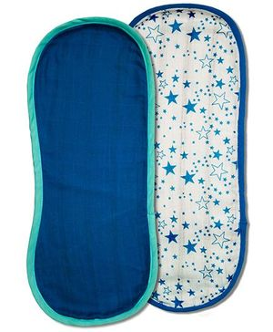 Kadambaby Muslin Burp Cloth Set of 2 - Star Print