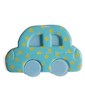 Sugarcart Cute Vintage Car Polka Dots - Blue & Yellow