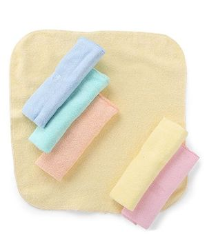 Babyhug Napkins Multicolor - Pack Of 6