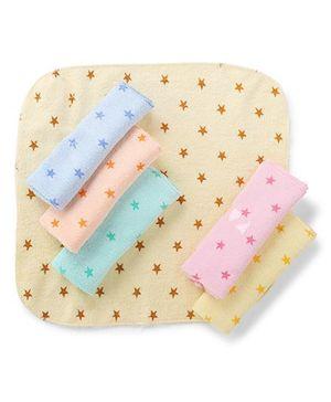 Babyhug Stars Napkins Multicolor - Pack Of 6