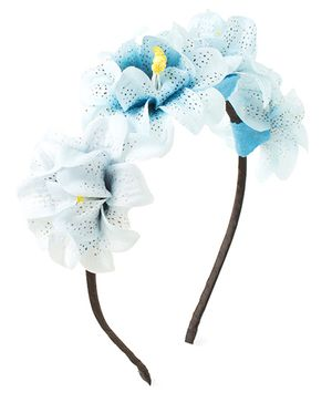 Bunchi Princess Floral Hair Band - Blue