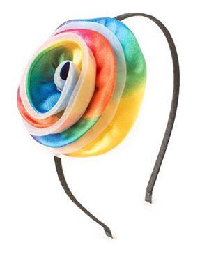 Bunchi Big Flower Metal Hair Band - Multicolour