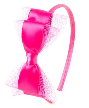 Bunchi Pretty Bow Hair Band - Neon Pink