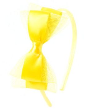 Bunchi Pretty Bow Hair Band - Neon Yellow