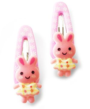 Akinos Kids Cute Bunny Baby Snap Clips - Baby Pink