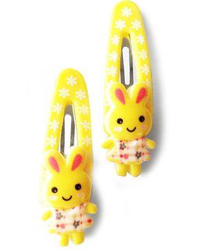 Akinos Kids Cute Bunny Baby Snap Clips - Yellow