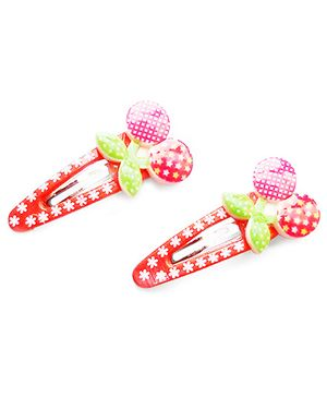 Akinos Kids Berry Snap Clips - Red
