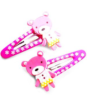 Akinos Kids Bear Snap Clips - Purple