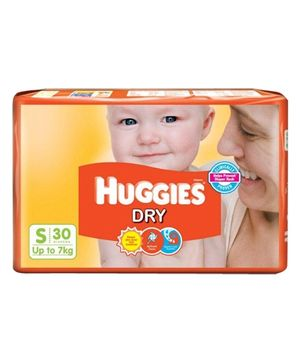 Huggies Dry Taped Diapers Small Size - 30 Pieces