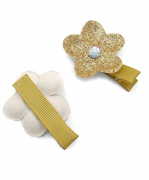 Little Cuddle Flower Hairclip - Gold