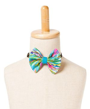 Brown Bows Printed Viscose Fan Bow Tie - Multi Color