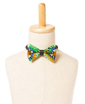 Brown Bows Printed Cotton Bow Tie - Multi Color