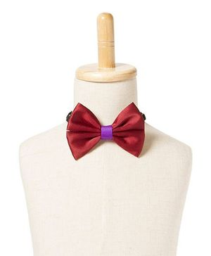 Brown Bows Satin Butterfly Bow Tie - Maroon
