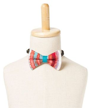 Brown Bows Viscose Butterfly Bow Tie - Multi Color