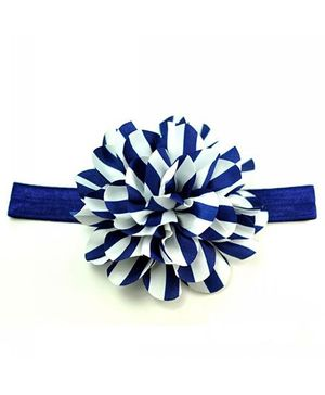 Bellazaara Newborn Zebra Striped Baby Headband  - Navy Blue