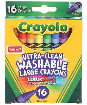 Funskool Crayola Large Washable Crayons - 16 Counts