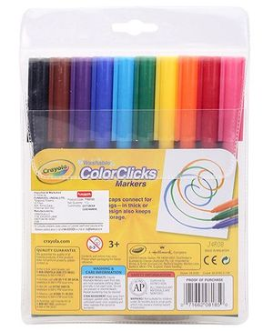 Funskool Crayola Color Clicks Markers - 10 Counts