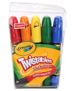 Funskool Crayola Twistable Slick Stix - 5 Counts