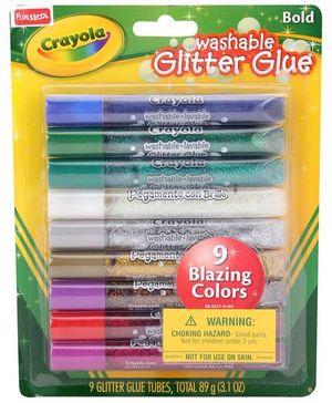 Funskool Crayola Washable Glitter Glue Bold - Pack Of 9