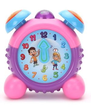 Round Alarm Clock - Pink And Purple