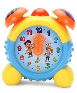 Round Alarm Clock - Blue And Yellow
