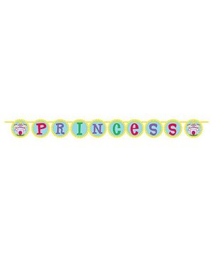 Charmed Celebrations Castle Fun Banner - Yellow & Green
