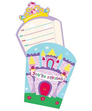 Charmed Celebrations Castle Fun Invites Multicolor - Pack Of 3