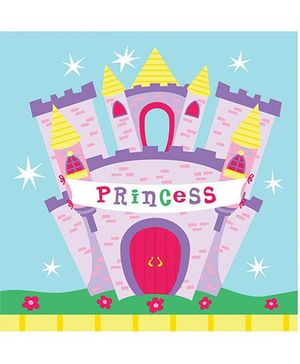 Charmed Celebrations Paper Napkins Pack of 50 Princess Print - Multi Color