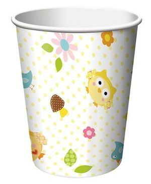 Charmed Celebrations Paper Cups Pack of 8 Owl Print - 266 ml