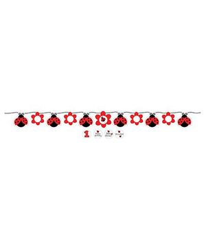 Charmed Celebrations Ladybug Fancy Banner - Red And White