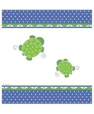 Charmed Celebrations Mr Turtle Table Cover - Blue and Green