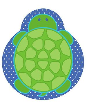 Charmed Celebrations Paper Plates Pack of 24 Tortoise Print - Blue and Green