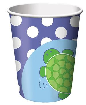 Charmed Celebrations Paper Cups Pack of 8 Tortoise Print - 266 ml