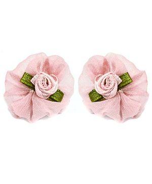 A.T.U.N Flower Stud Earrings - Pink