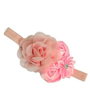 Little Miss Cuttie 3 Flower Headband - Pink