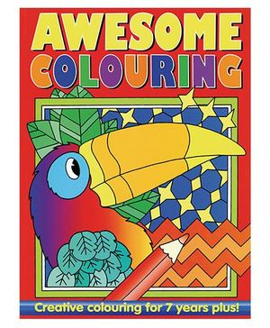 Awesome Colouring Book Red - English