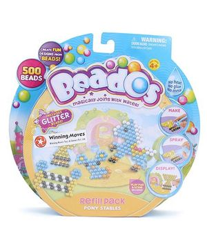Beados Glitter Beads Pony Stables - Multicolor