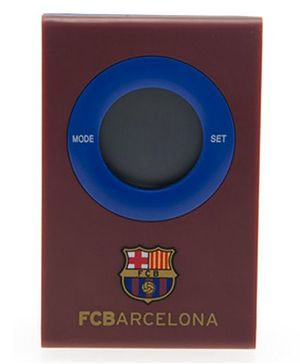 Barcelona FC Digital Alarm Clock - Brown & Blue