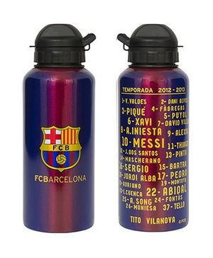 Chelsea Barcelona FC Aluminium Sports Water Bottle Set of 2 - 500 ml