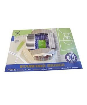 Chelsea FC Pop Up Birthday Card Blue Green Beige - 1 Piece