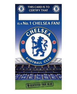 Chelsea FC Birthday Card No 1 Fan Blue Green - 1 Piece