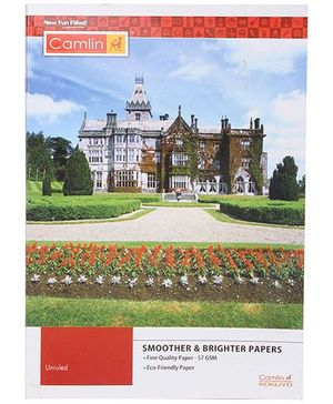 Camlin A4 Unruled Notebook Palace Print - 180 Pages