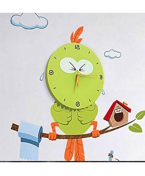 EZ Life DIY Quirky Owl Clock Set - Green
