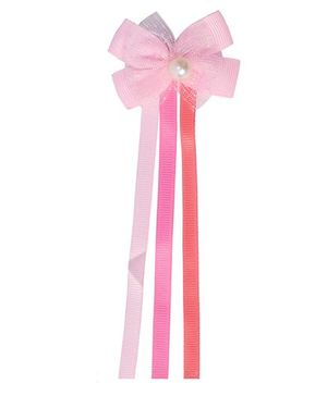 Miss Diva Bow Alligator Clip - Light Pink