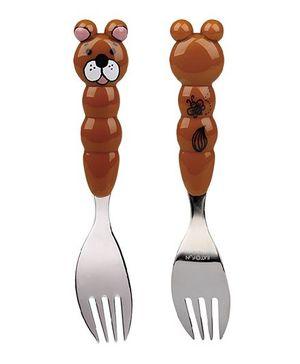 Eat4Fun Animos Kids Fork Bear - Brown