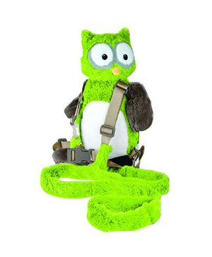 Playette Harold The Owl 2 In 1 Harness Buddy - Green