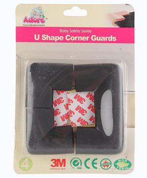 Adore Baby U Shape Corner Guard - Black