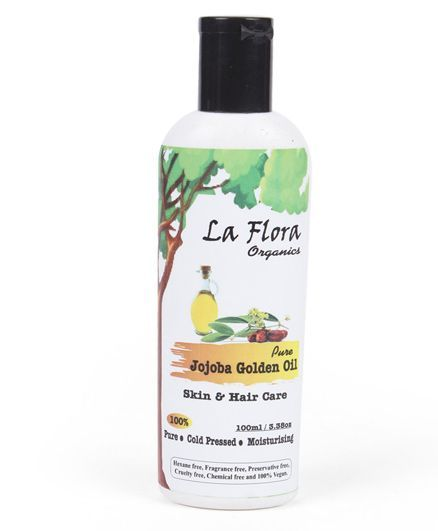 La Flora Organics Pure Jojoba Golden Oil Skin And Hair Care - 100 ml