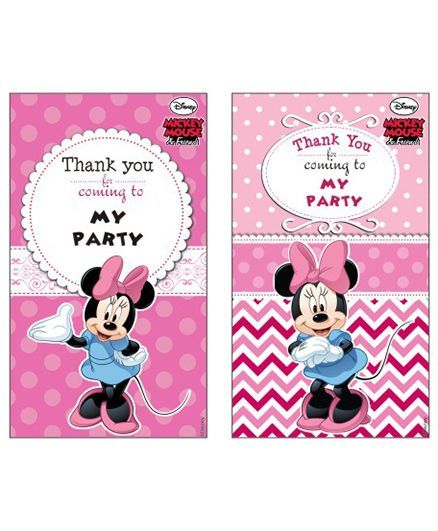 disney minnie mouse thankyou cards pack of 10 online in india buy