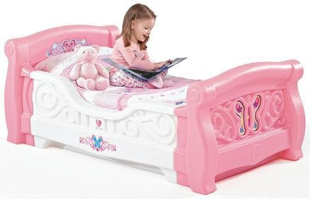 Step2 - Girl's Toddler Sleigh Bed - Pink